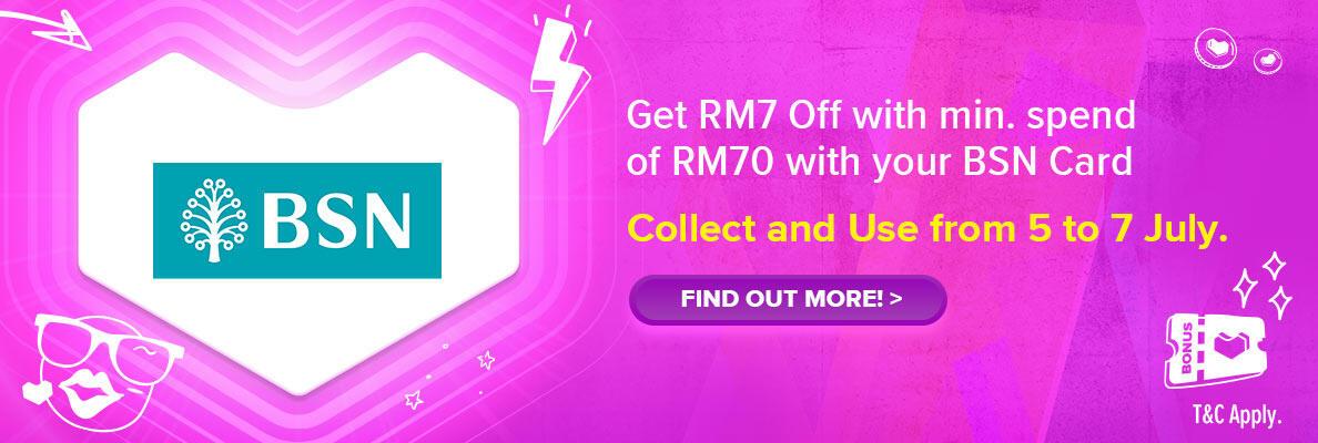 Lazada 7.7 Mid Year Sale x BSN RM7 Off Voucher
